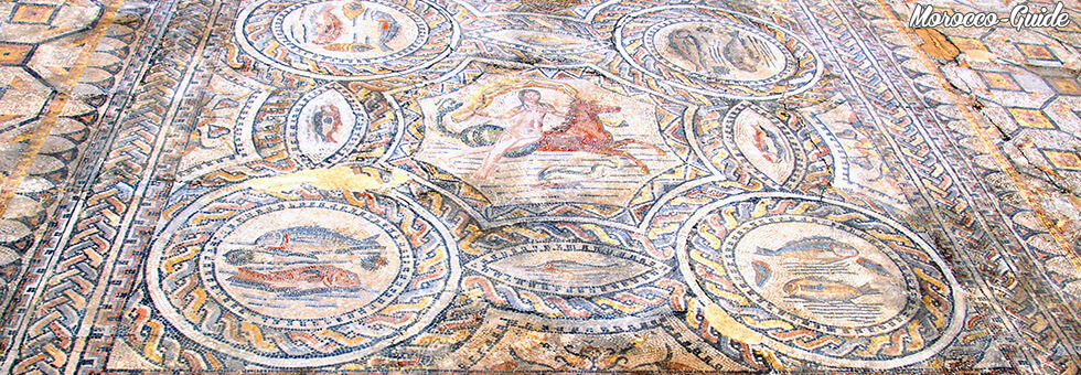 Volubilis - Mosaïcs representing the fishing and maritime theme