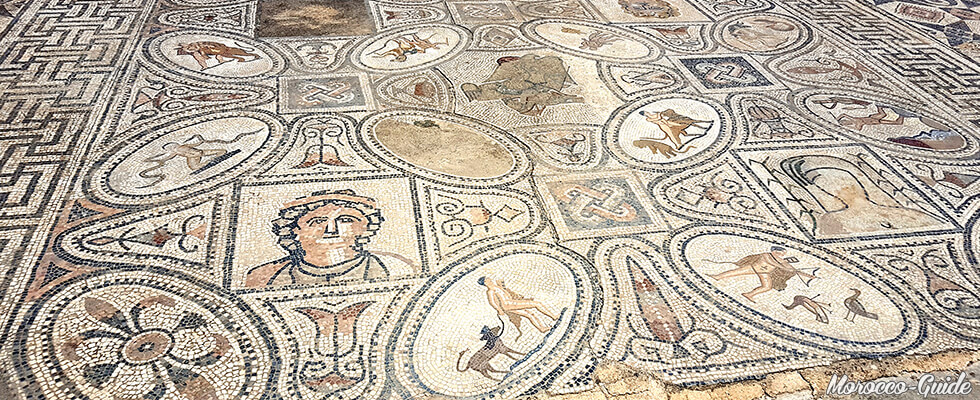 Volubilis - Mosaïcs representing the twelve Labors of Hercules