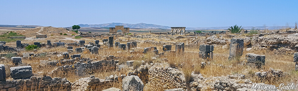 Volubilis - Panoramic view, residential quarter