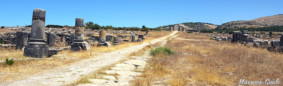 Volubilis - The Decumanus Maximus leading to the Tingis gate