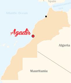 Morocco Map Agadir