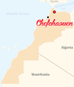 Morocco Map Chefchaouen