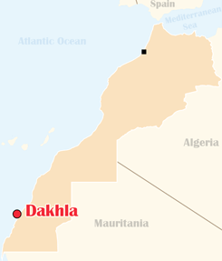 Morocco Map Dakhla