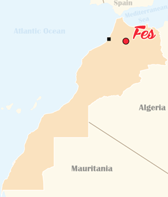Morocco Map Fes