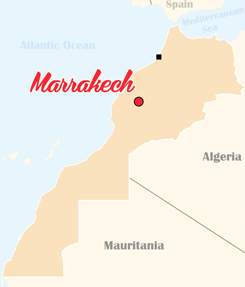 Morocco Map Marrakesh