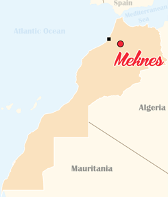 Morocco Map Meknes