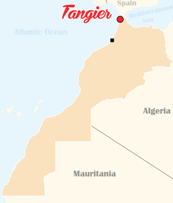 Morocco Map Tangier