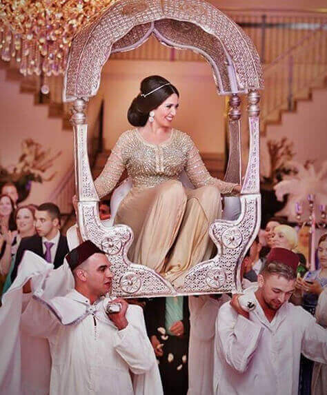 The bride in Moroccan Amaria