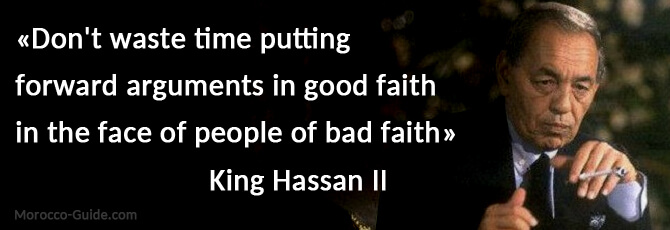 King Hassan II Quote - Morocco