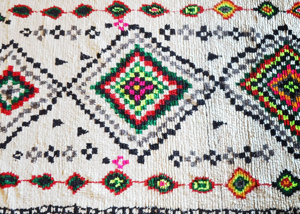 Pattern of the berber carpet - Azilal