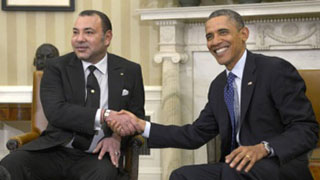 The King Mohammed VI and the president Obama