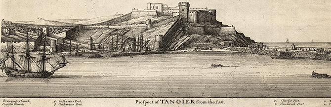 View of Tangier drawn by Wenceslaus Hollar in 1668
